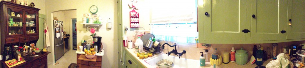 Kluttered Kitchen Pano