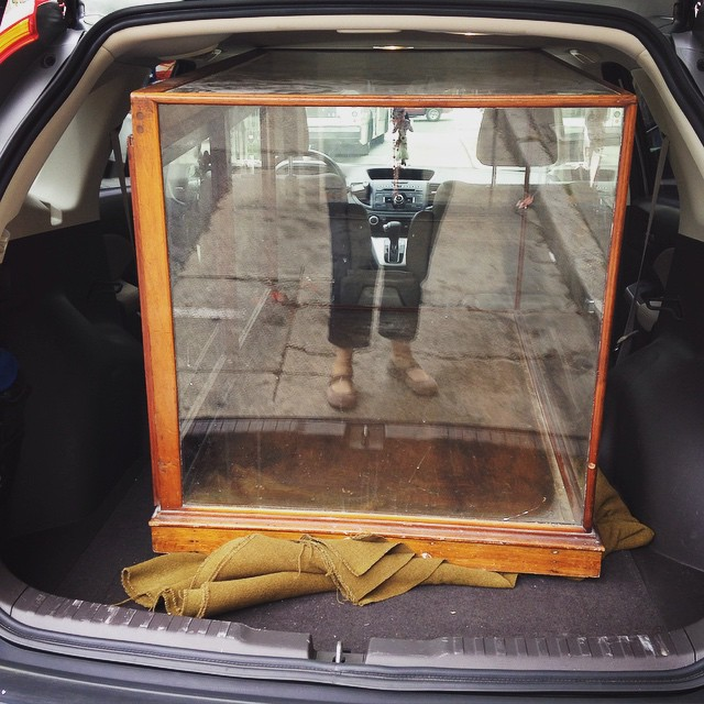 Glass Display Cabinet - with legs